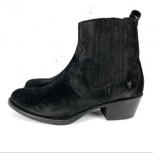 Frye Diana Oiled Suede Chelsea Boots Black Size 6.5